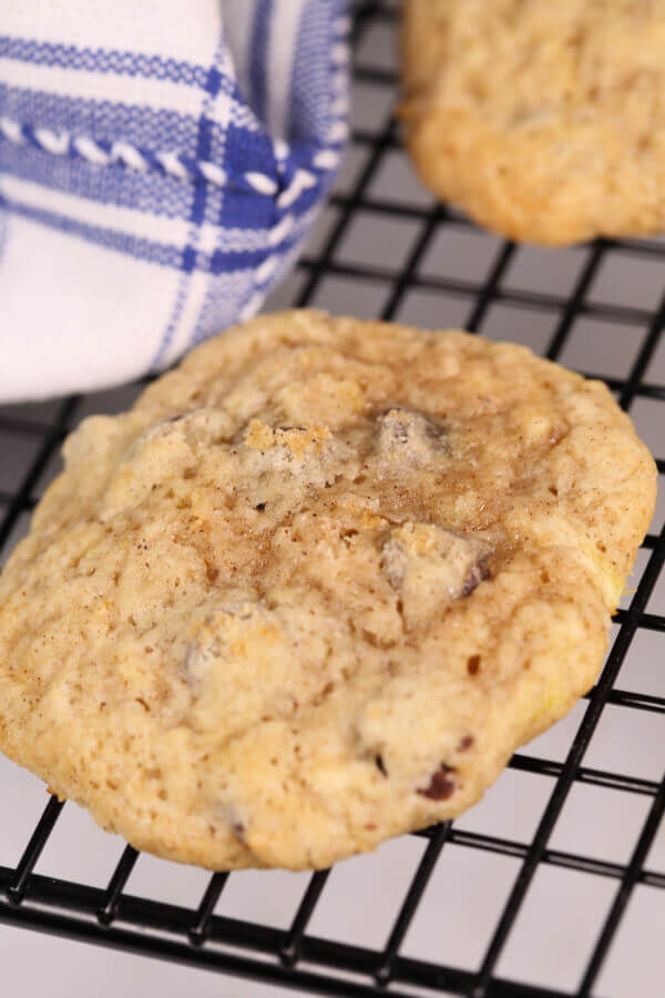 Close up of zucchini cookies.