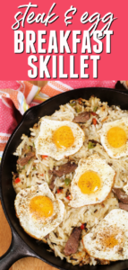 Healthy Breakfast Skillets with Steak and Eggs