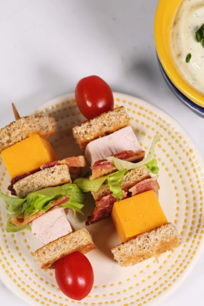 Turkey Club Lunchbox Kabobs