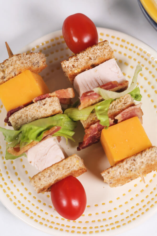 Turkey Club Lunchbox Kabob