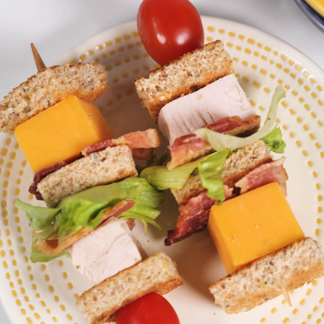 Turkey Club kebobs