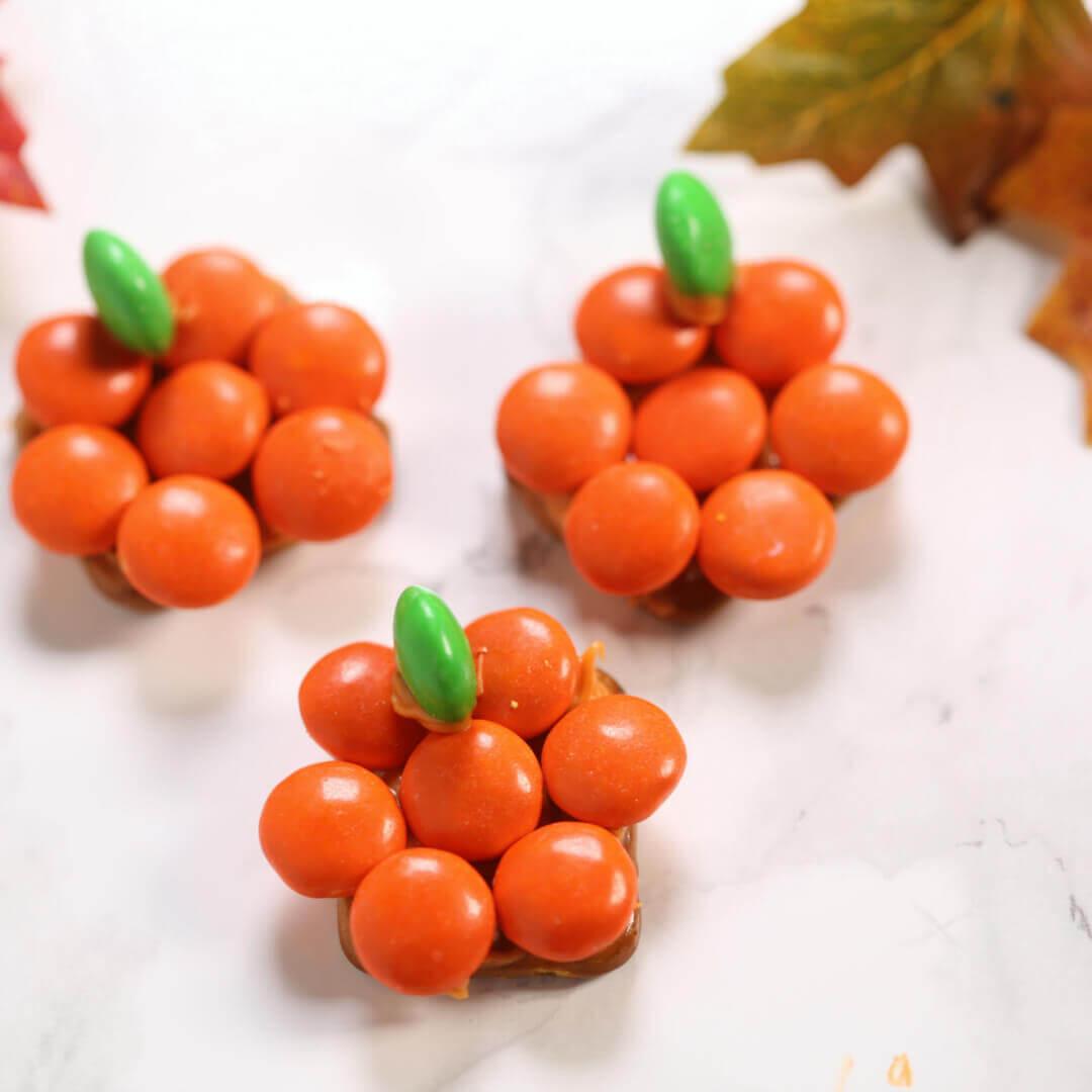 Chocolate Covered Pretzels recipe pumpkins