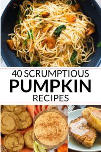 collection of Recipes with pumpkin