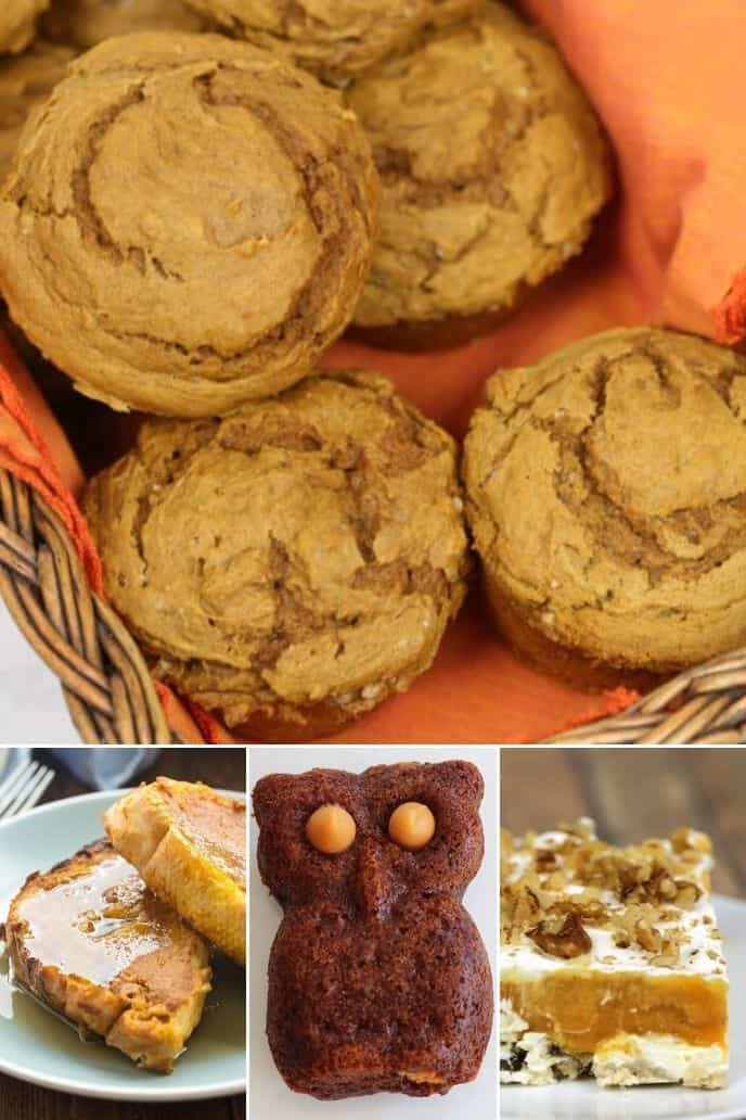 collection of pumpkin dessert recipes
