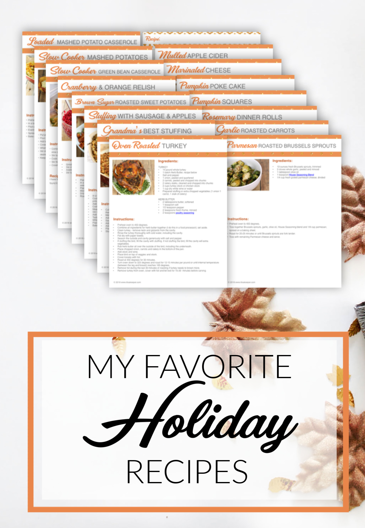 THANKSGIVING DAY PRINTABLE PLANNER RECIPES