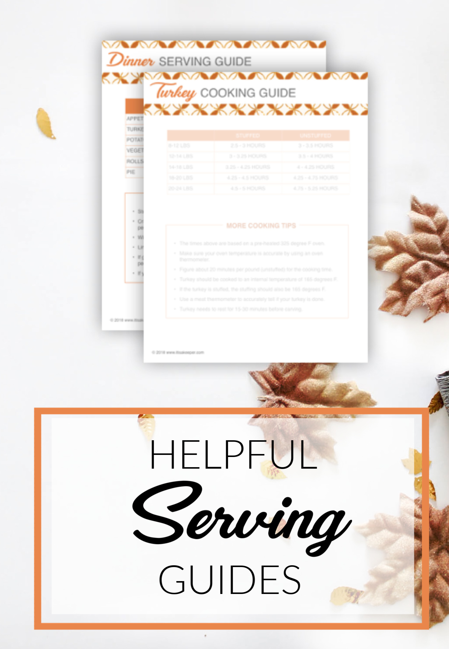 THANKSGIVING DAY PRINTABLE PLANNER SERVING GUIDES