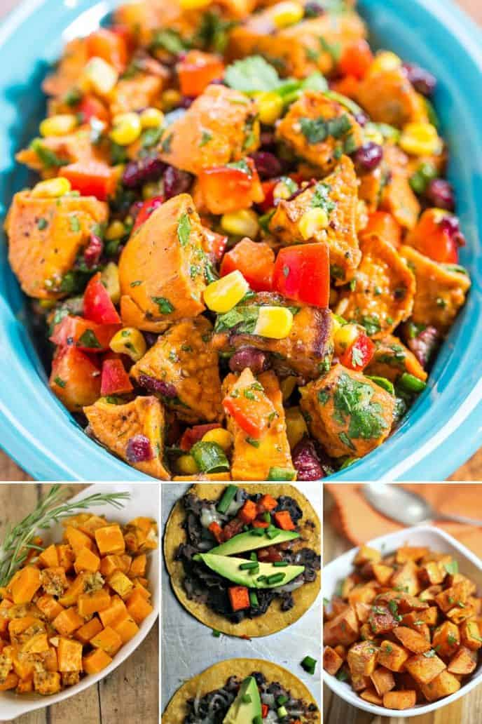 Collection of roasted Sweet Potato Recipes