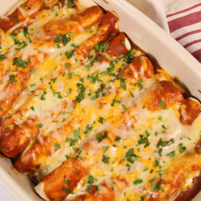 The Best Ground Beef Enchiladas
