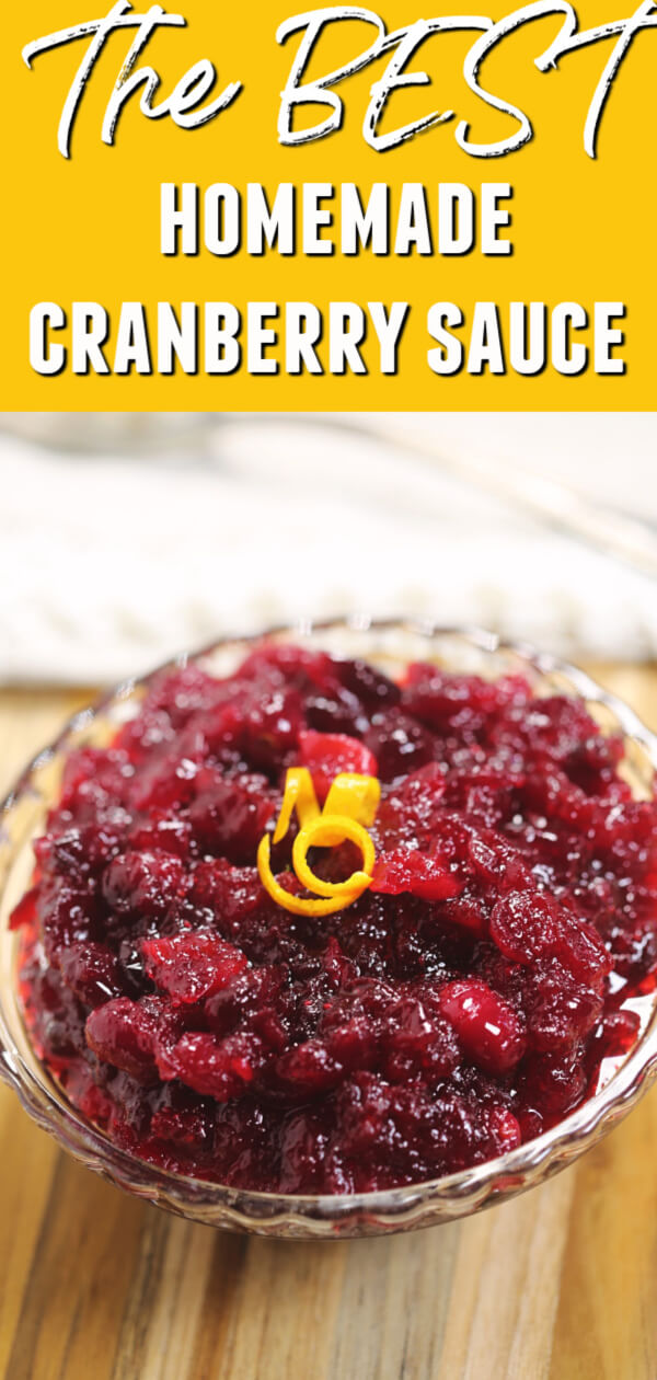 This is one of the BEST homemade Cranberry Sauce recipes I have ever tried!  It's easy to make and tastes so much better than the canned variety. #itisakeeper #cranberry #thanksgiving #christmas #cranberrysauce #cranberryrelish #easyrecipe #thanksgivingsidedish #recipe #recipes #30minuterecipe