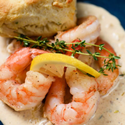 Creamy Shrimp and Biscuits