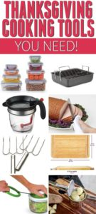 Collection of thanksgiving cooking tools
