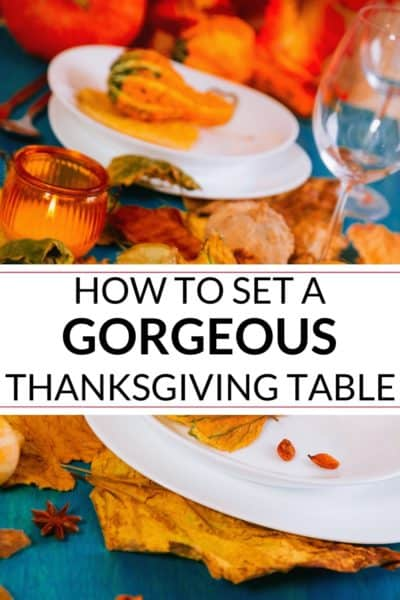 collection of Thanksgiving table decor