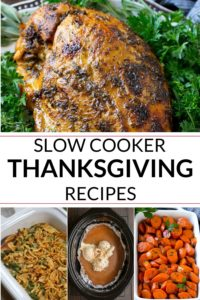 collection of slow cooker turkey and other thanksgiving recipes