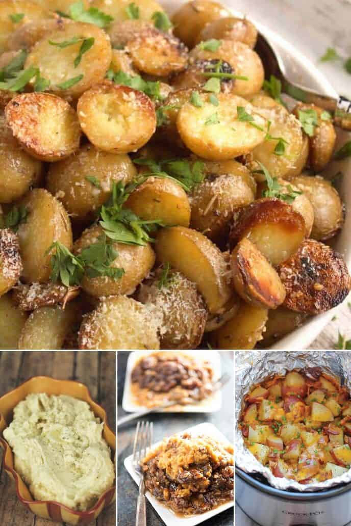 collection of slow cooker potatoes