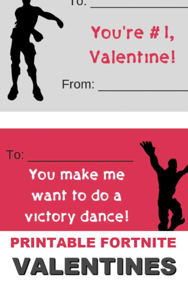 These free printable Fortnite Valentines are perfect for girls or boys to pass out to their friends. Download and print the set of 4 Fortnite Valentines for free. #itisakeeper #printable #printables #free #valentinesday #printablevalentine #fortnite #gamer