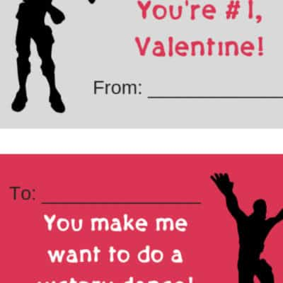Fortnite Valentines Printables