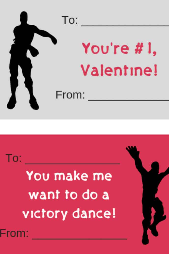 graphic regarding Fortnite Printable Images named Fortnite Valentines (totally free printable Valentine playing cards) It Is