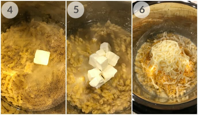 step by step photos for making instant pot macaroni and cheese