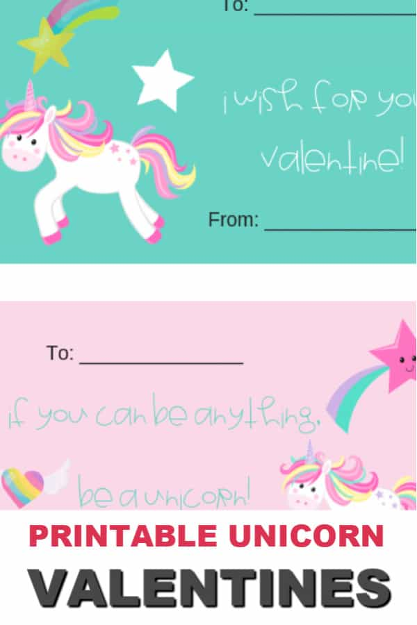 If you have a unicorn lover in the house, they will love these Unicorn Valentines. The free printable valentine cards have 4 designs to print and share. #itisakeeper #printable #printables #free #valentinesday #printablevalentine #unicorn