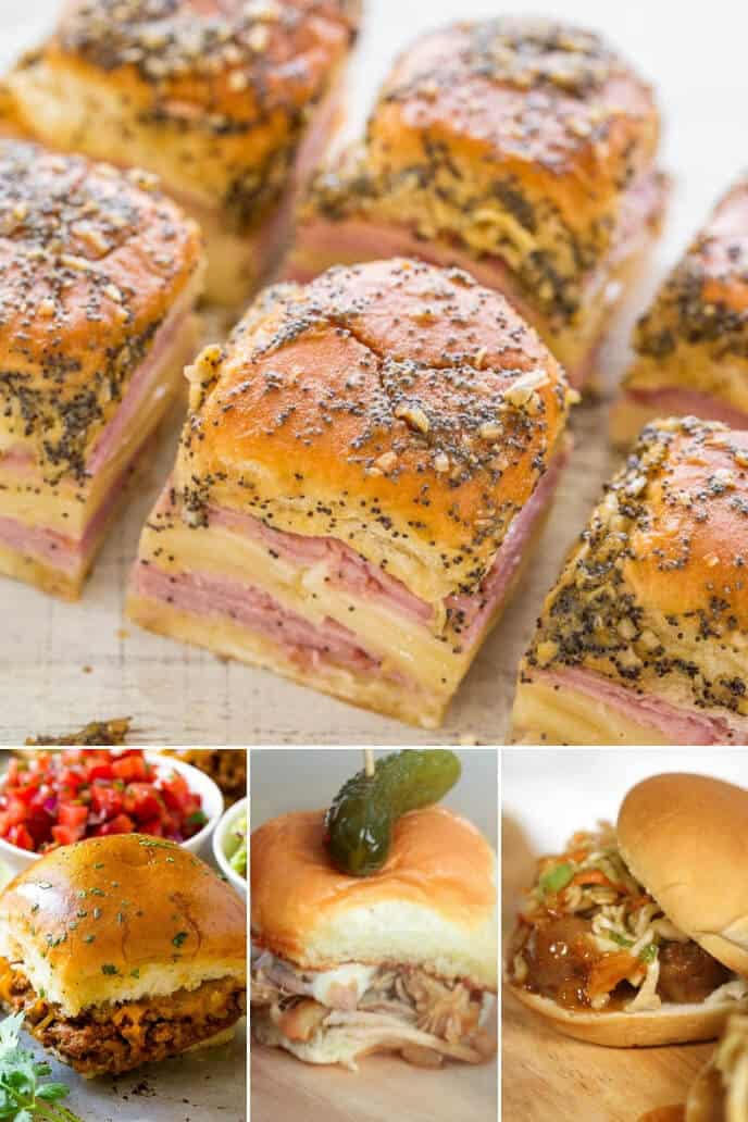 A collection of beef sliders and deli meats