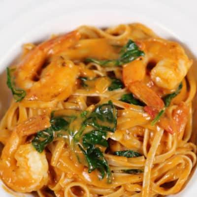 Creamy Tuscan Shrimp Pasta