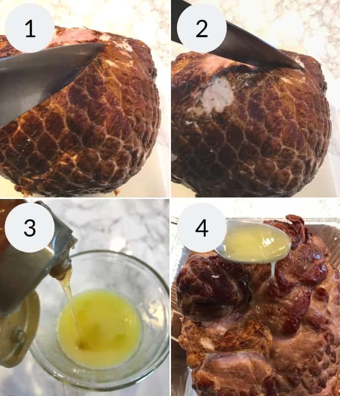 Step by step process for making honey baked ham recipe