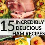 A collection of holiday ham recipe