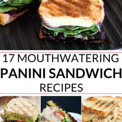 A collection of Panini sandwich recipe