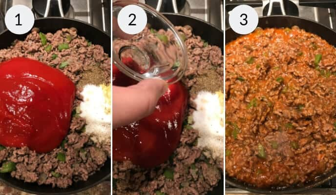 Step by step instructions for making homemade sloppy joes recipes
