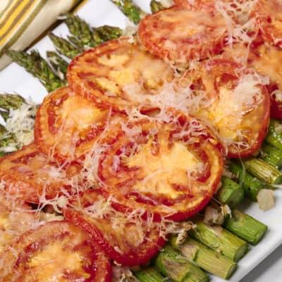 Tuscan Roasted Parmesan Asparagus