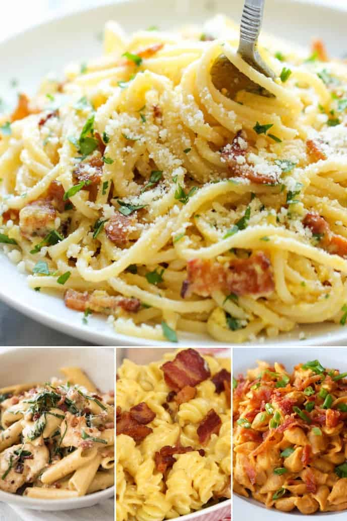 Collection of bacon dinner recipes