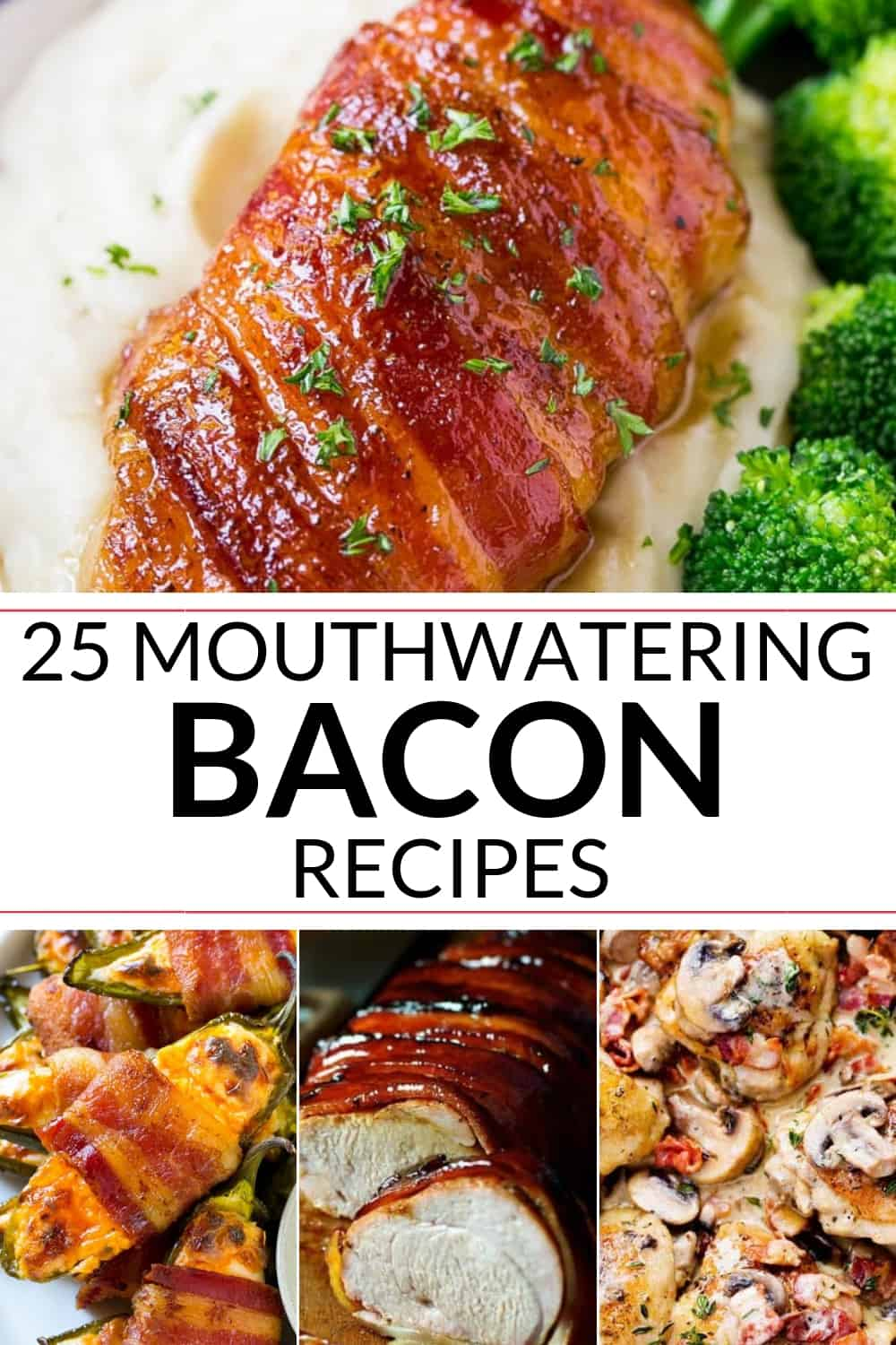 Collection of mouth watering Bacon recipes