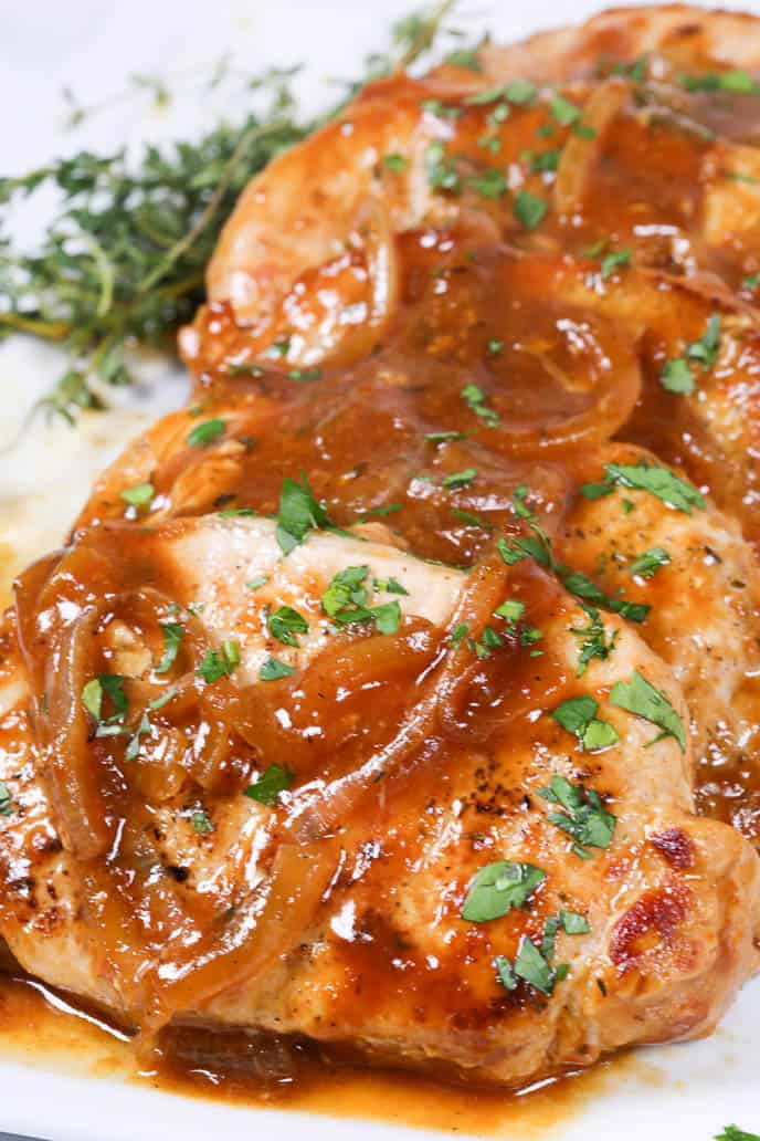 pan seared pork chop recipes with sauce Pan Seared Pork Chops with Beer