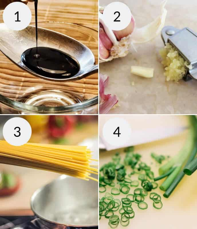 Step by step instructions for making easy asian noodles