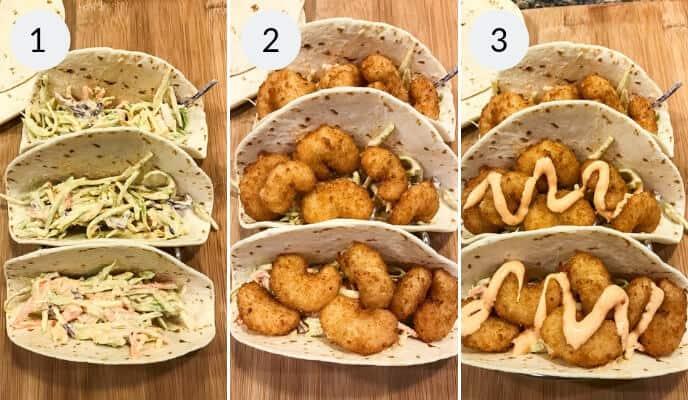 Steps to make Boom Boom Shrimp Tacos