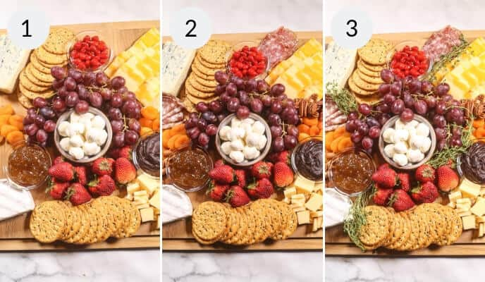 Step by step instructions for how to make a cheeseboard