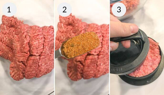 Step by step for making burger