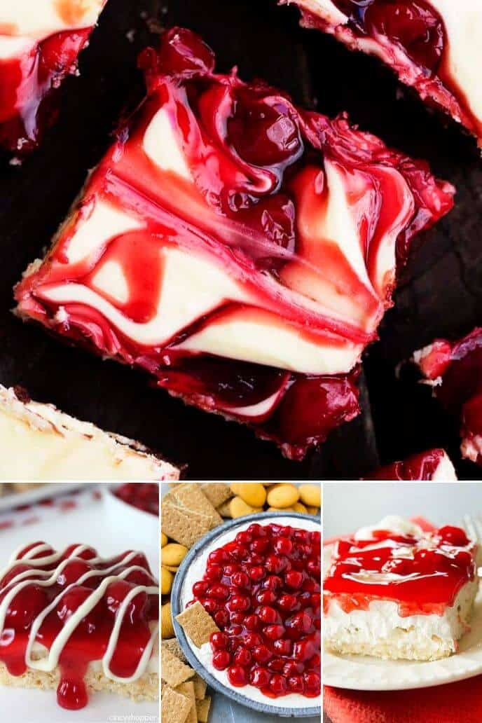 Collection of cherry cheesecake recipes