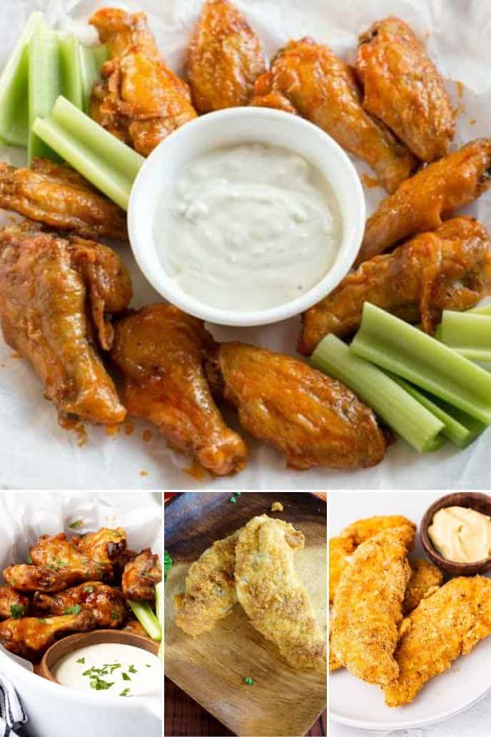 A collection of air fryer chicken recipes