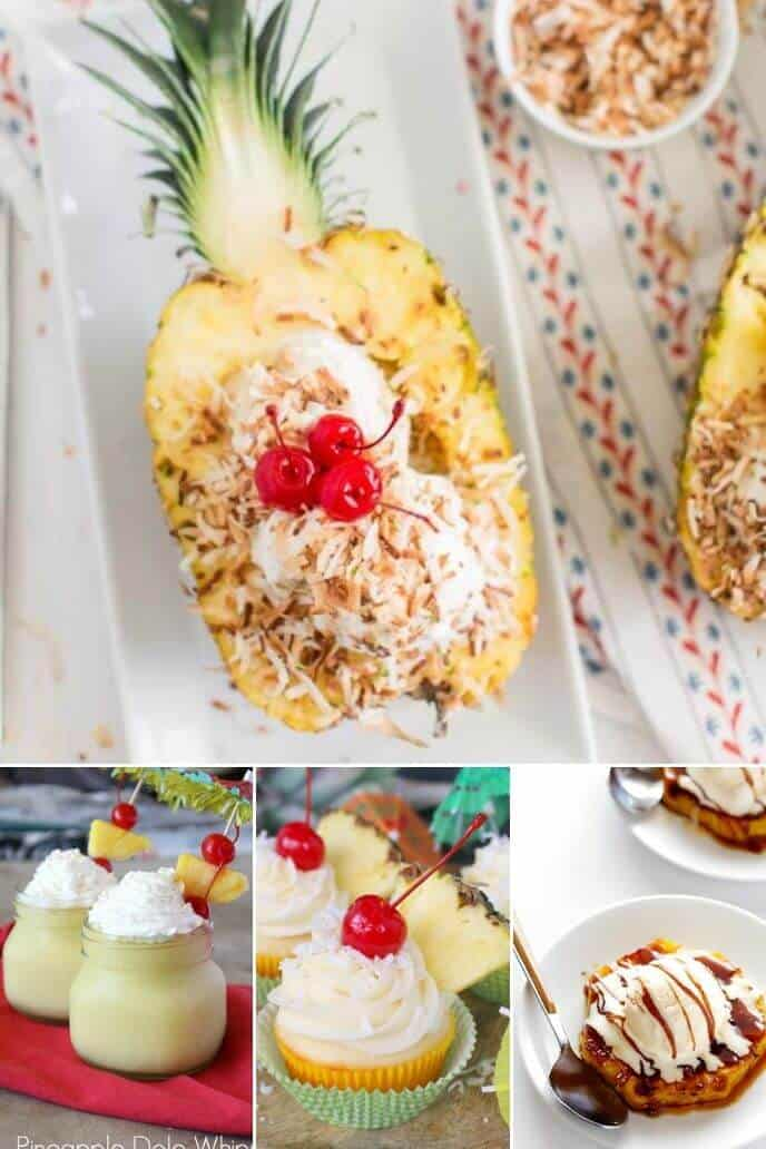 a collection on pineapple desserts