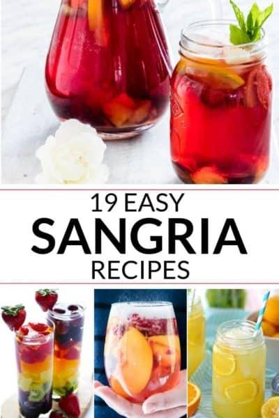 A collection of easy sangria recipe
