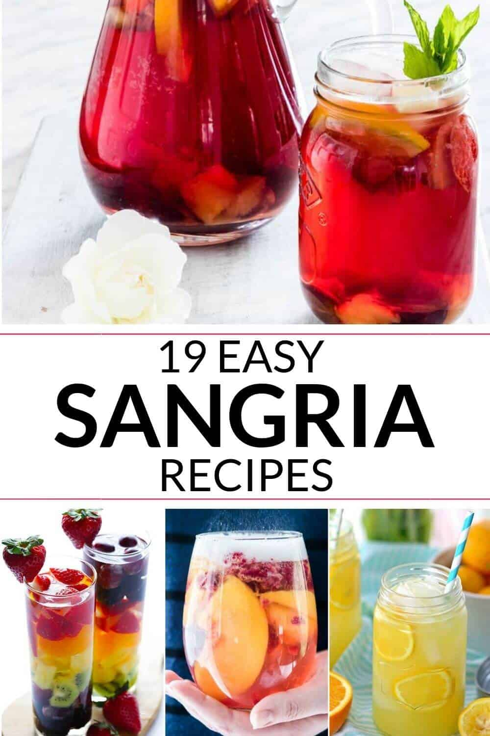 A collection of easy sangria recipe
