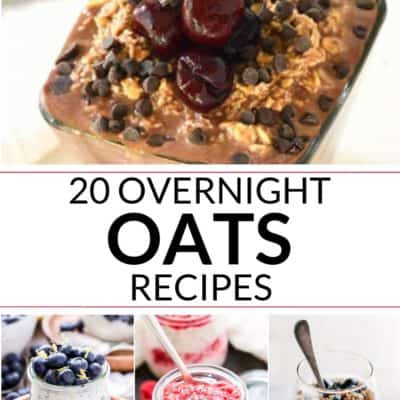 collection of overnight oats recipes