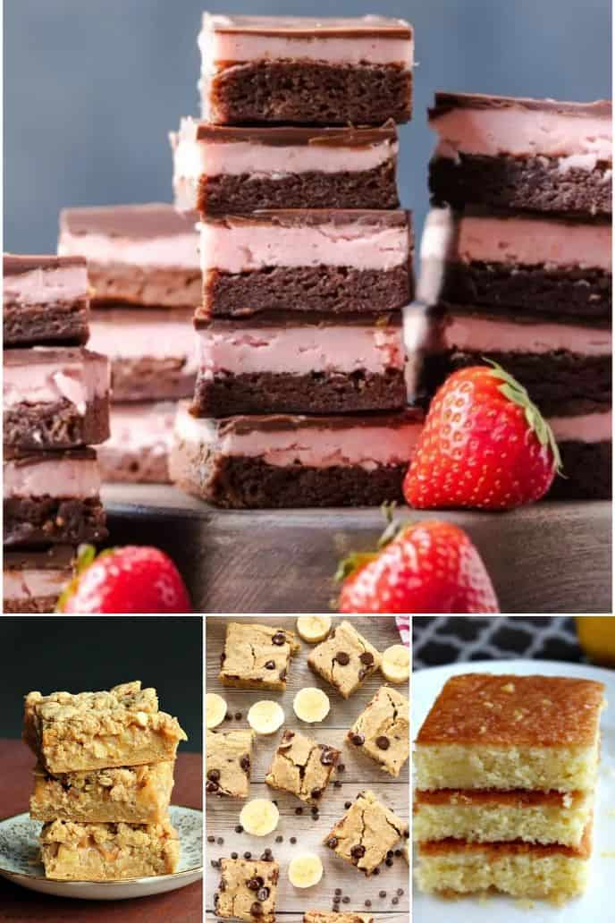 collection of Fruity Brownie Recipe with cocoa powder