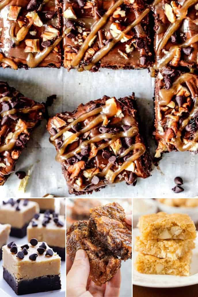collection of Nutty Brownie Recipes