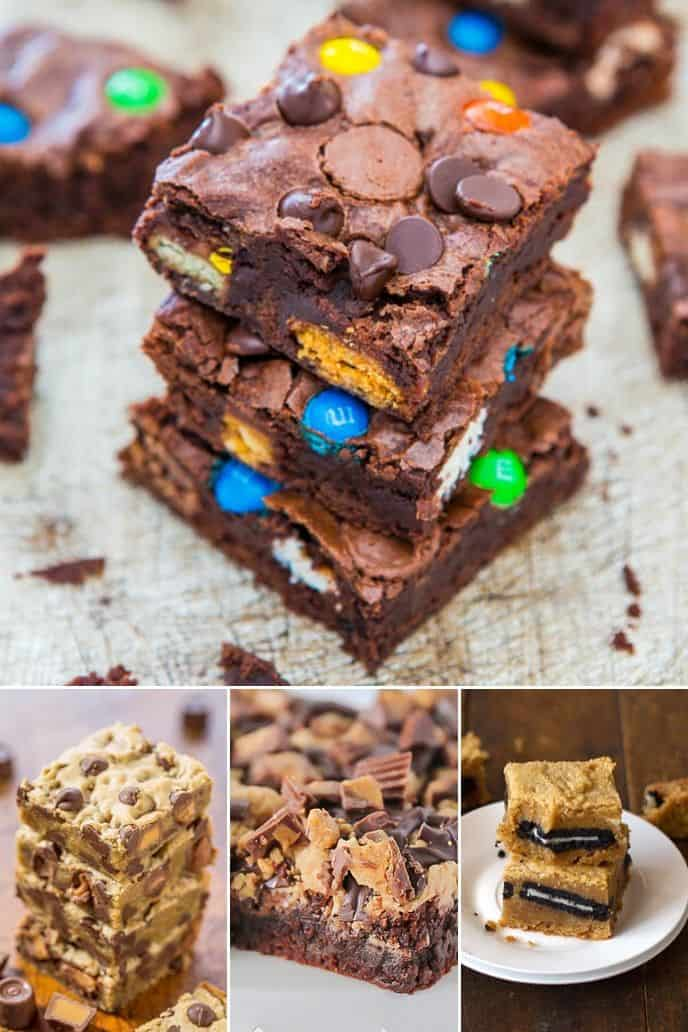 collection of Candy Filled Brownie Recipes