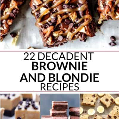 22 Fudgy Brownie Recipes and Blondie Recipes
