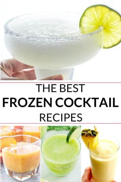 Collection of frozen drinks and cocktails