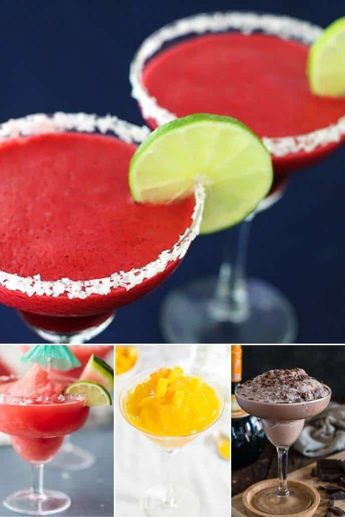 Collection of frozen margarita