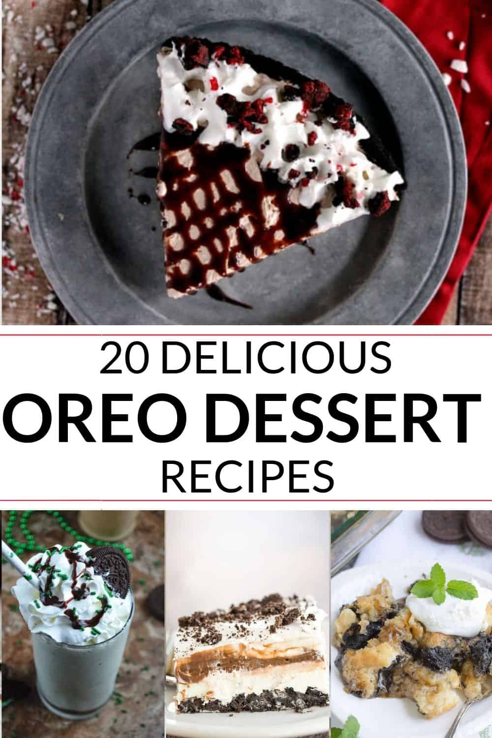 Four out of the 20 delicious oreo recipes that is absolutely incredible.